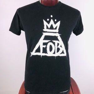 Fall Out Boy Logo Mens Lrg Graphic T Shirt